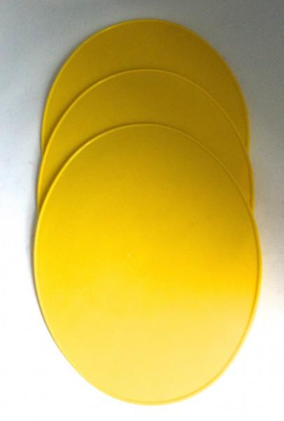 Startnummerntafel gelb