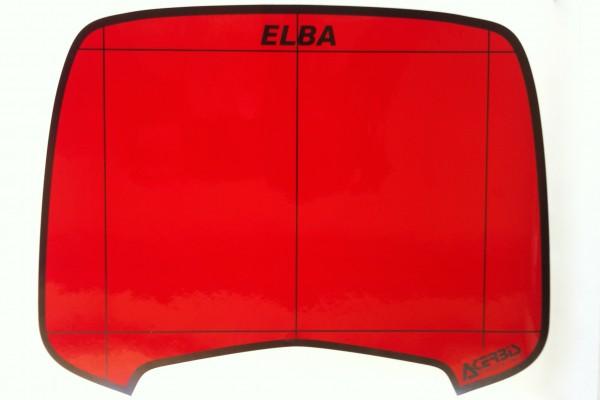 ELBA 1 Aufkleber rot