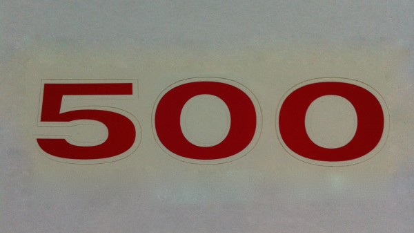 "Aufkleber ""500"""