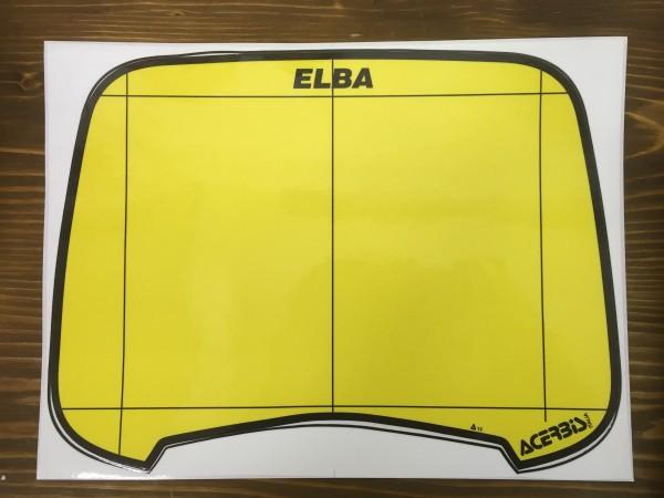 ELBA 1 Aufkleber gelb