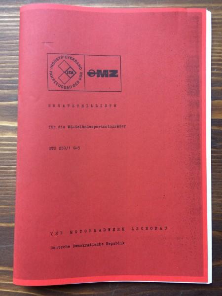 Ersatzteil-Liste MZ ETS-G (in deutscher Sprache)