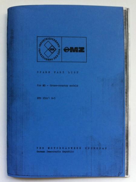 Ersatzteil-Liste MZ ETS-G (in englischer Sprache)