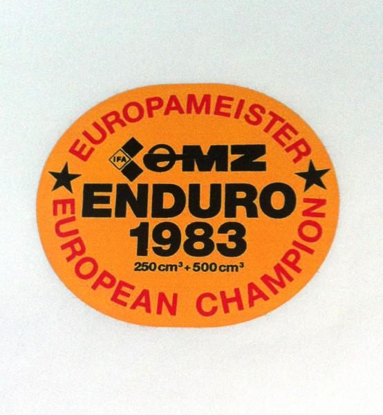 "Aufkleber ""Europameister MZ 1983"""